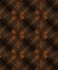 Glazed Wood Abstract Geometric Pattern