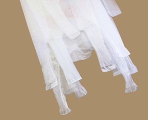 Plastic bag for reused with clipping path