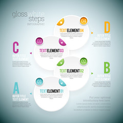 Gloss White Step Infographic