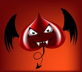 evil red heart