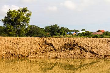 Soil erosion, landslides, coastal reclamation new flows.
