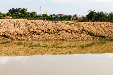 Soil erosion, landslides, coastal reclamation new flows.