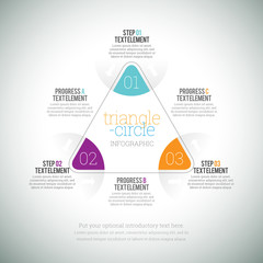 Triangle Circle Infographic