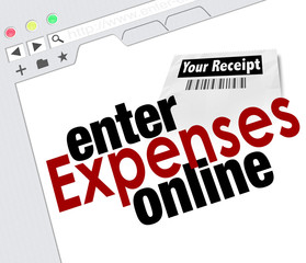 Enter Expense Report Online Receipts Reimbursement Website