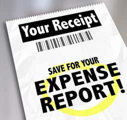 Your Receipt Save For Expense Report Payment Document