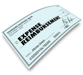 Expense Report Words on Check Reimbursement Payment