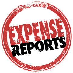 Expense Report Red Stamp Reimburse Business Costs