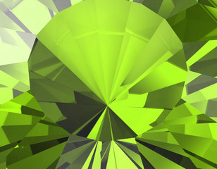 Background of jewelry gemstone. Facet. Peridot