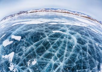 Baikal ice in winter
