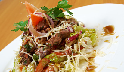 salad with beef liver