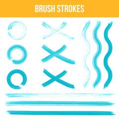 Watercolor brush strokes.