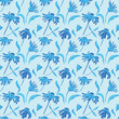 Watercolor Retro seamless pattern with flowers
