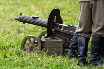 WW II Maxim machine gun