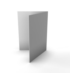 Blank folded leaflet