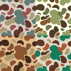 Seamless duck hunter camouflage background pattern.