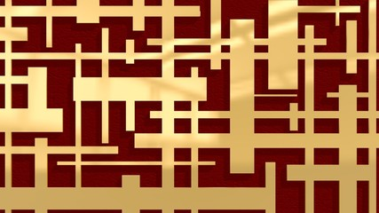 golden pattern on dark red backdrop
