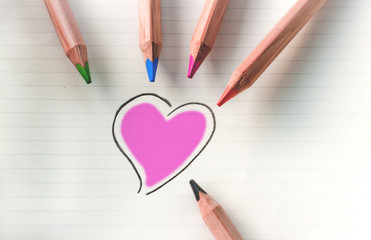Color your heart - violet