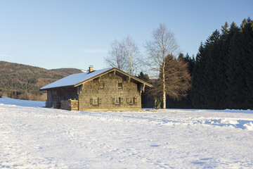 Old farmhouse in the Bavarian Forest