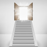 straight stairway leading to heaven door flare