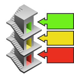 staircase tower as building development template