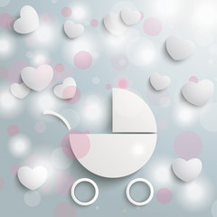Baby Buggy Lights Hearts