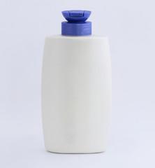 Plastic bottles of shampoo