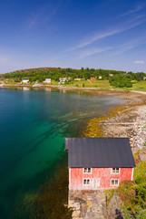Beautiful sea coast architecture in Norway