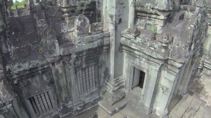 Angkor wat tower fly  up