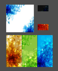 Flower Modern brochure background, easy editable