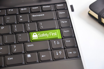 Internet security or safety first concept