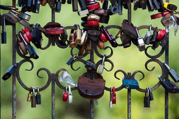 fence with locks
