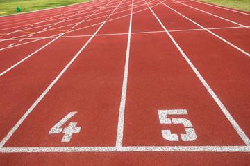 Athletic Hundred Meter Starting Line