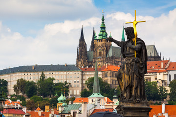 Prague. The St. Vitus Cathedral.Prague castle.