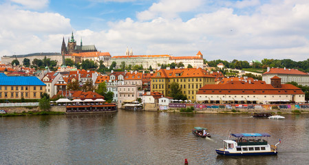 Prague. The St. Vitus Cathedral.Prague castle.