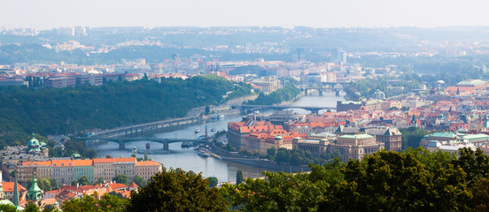 Prague.The Vltava river.