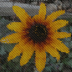 Flower image knit generated texture