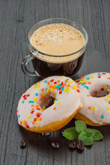 Coffee with donuts