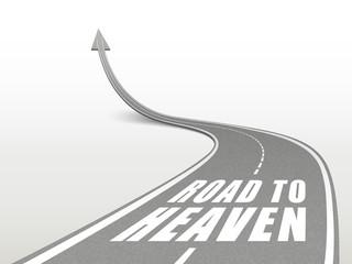 road to heaven words on highway road