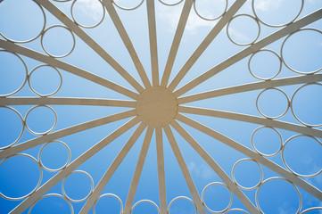 White iron flower Pavilion