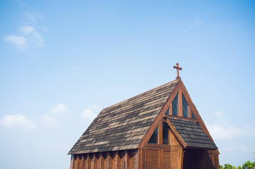 Wooden church roof
