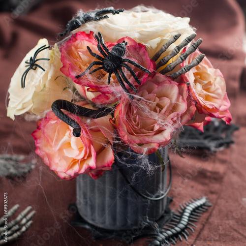 canvas print picture Halloween bouquet
