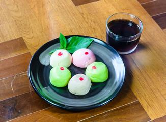mochi cakes on dish