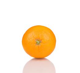Ripe orange close up.