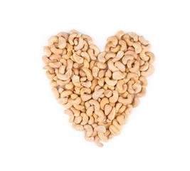 Heart shape from cashew.