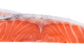 Salmon fillet texture.