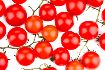 Close up of tomatoes. Macro.