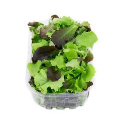 Mix salad in box.