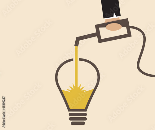 Idea lightbulb is refilled - 69304237