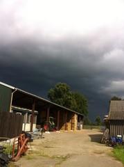 Regen komt naar de boerderij
