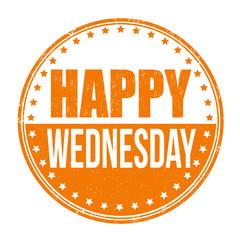 Happy wednesday stamp